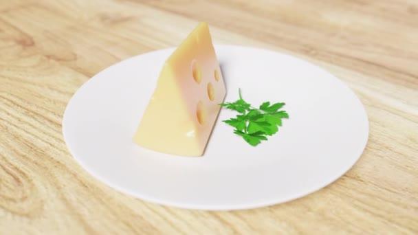 Sýr na talíři na stole