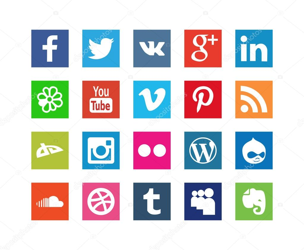 Collection of Style Social Media Icons