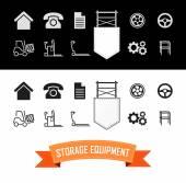 Photo Merchandise Icons Set