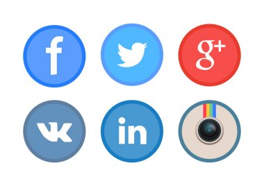 Icons of social media networks