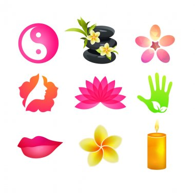 Spa Icons Set of beauty and health