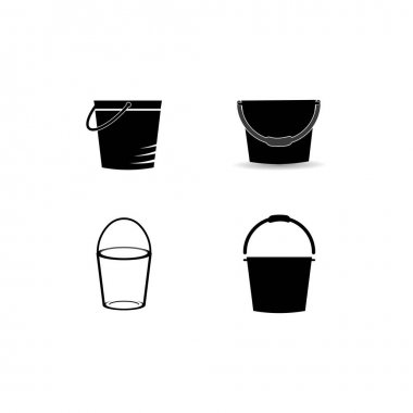 Bucket icon vector design illustration background icon