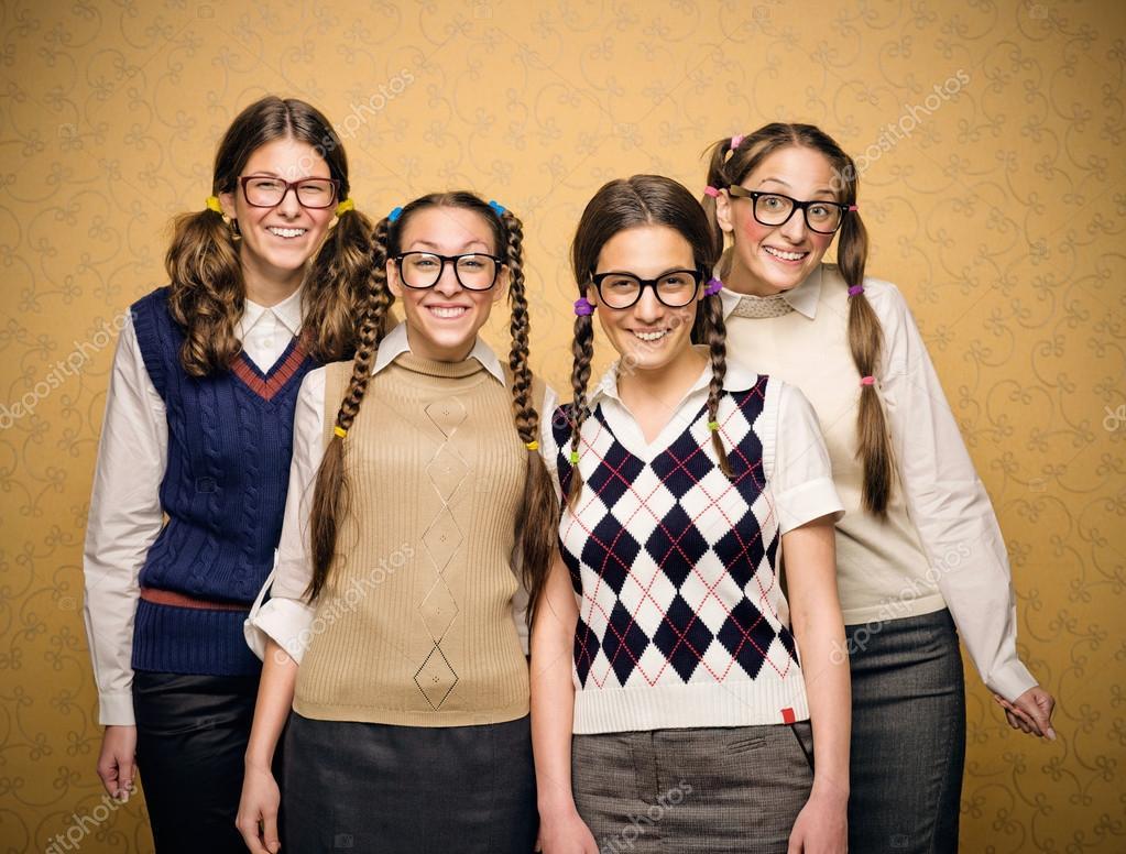 young female nerds stock photo nesharm 61111629