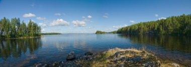 Lake Onega panorama in Karelia, Russia