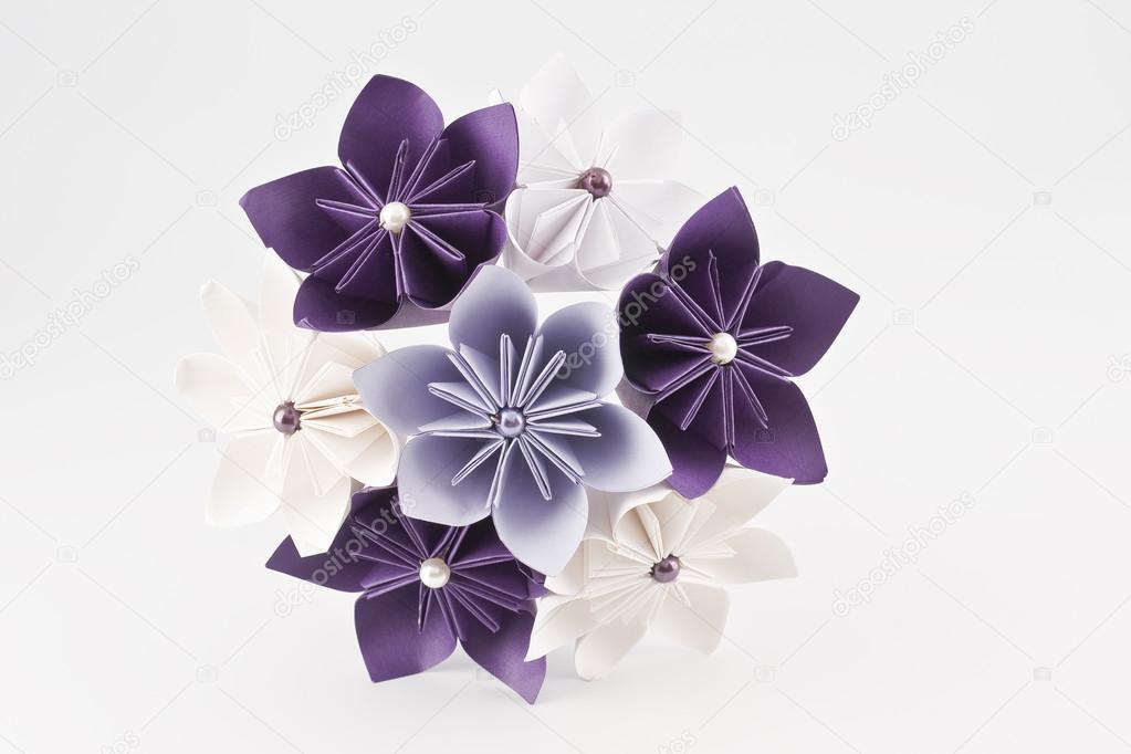 Origami Papier Hochzeitsstrauss Stockfoto C Antmos 59000857