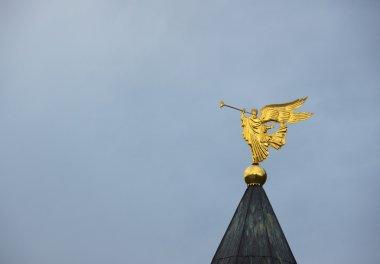 Trumpeting angel, Dmitrov, Moscow region, Russia