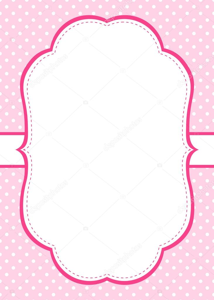 pink polka dot invitation template stock vector marlenes9 121206366
