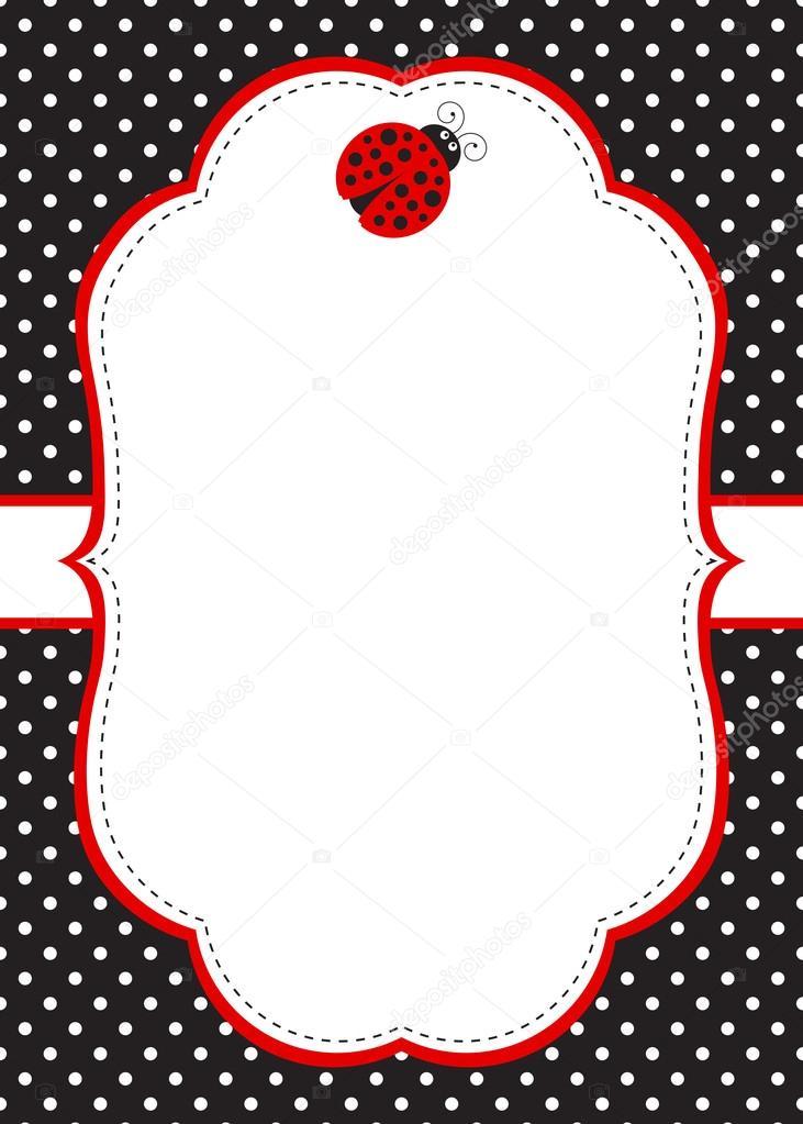 Ladybug Invitation Template — Stock Vector © marlenes9 #121208968
