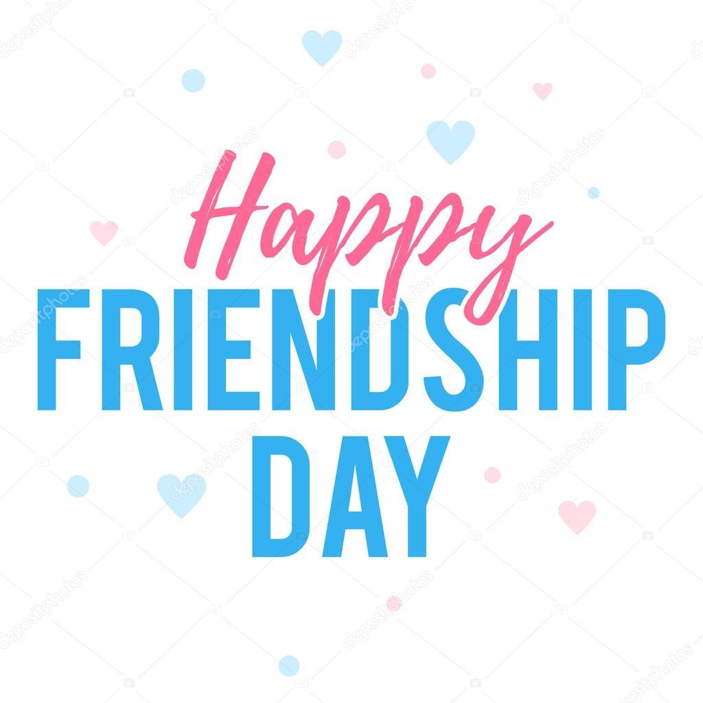 Happy Friendship Day Greeting Card Stock Vector Egudinka 116687708