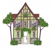 Europäisches Stadthaus. Vektorillustration