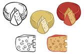 Fotografia insieme dellicona di vettore di formaggio