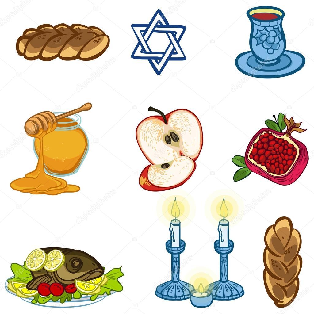 Symbols of rosh hashanah jewish new year vector illustration symbols of rosh hashanah jewish new year vector illustration iconset vector by museyushaya biocorpaavc