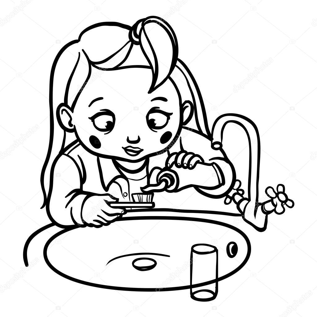 Imágenes Dientes Caricatura Para Colorear Niña De Divertidos