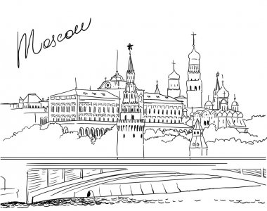 Vector illustration of Moscow.