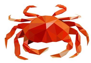crab polygonal art
