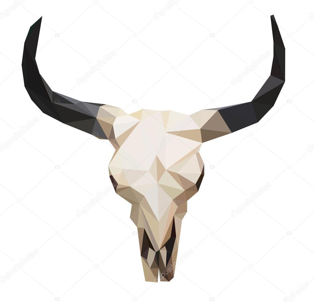 Crâne De Taureau Polygonale Image Vectorielle Alsoush 109357292