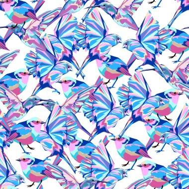 birds print textile