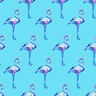 Flamingo seamless background