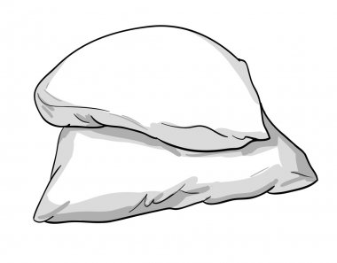 sketch of bed pillows