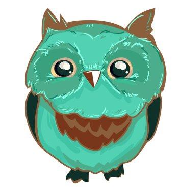 beautiful owls illustration