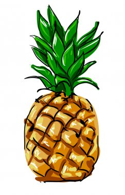 pineapple tropical background