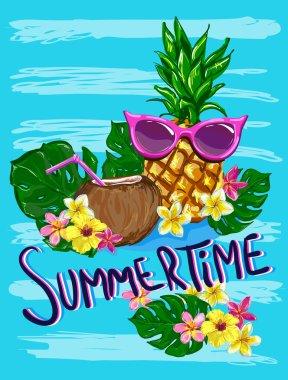 tropical summertime illustration