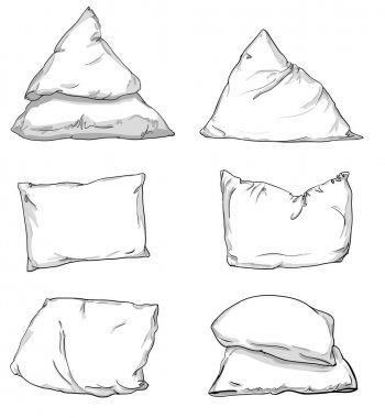 illustration of pillows sketch