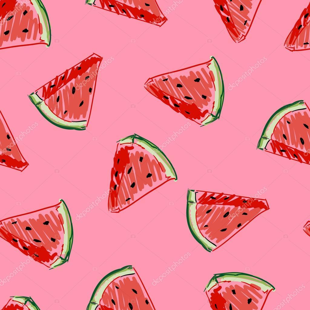 Watermelon seamless pattern — Stock Vector © AlsouSh ...