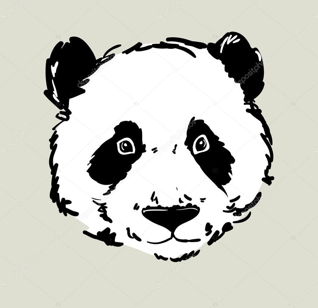 Croquis de t te panda image vectorielle alsoush 86605118 - Tete de panda dessin ...