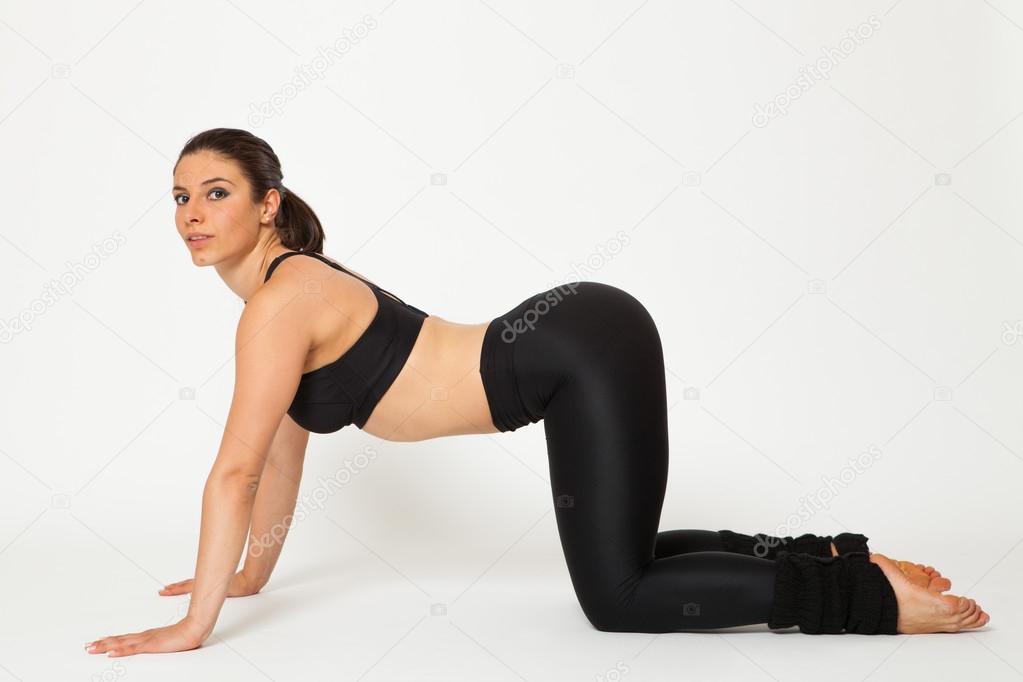Sexy yoga exercise