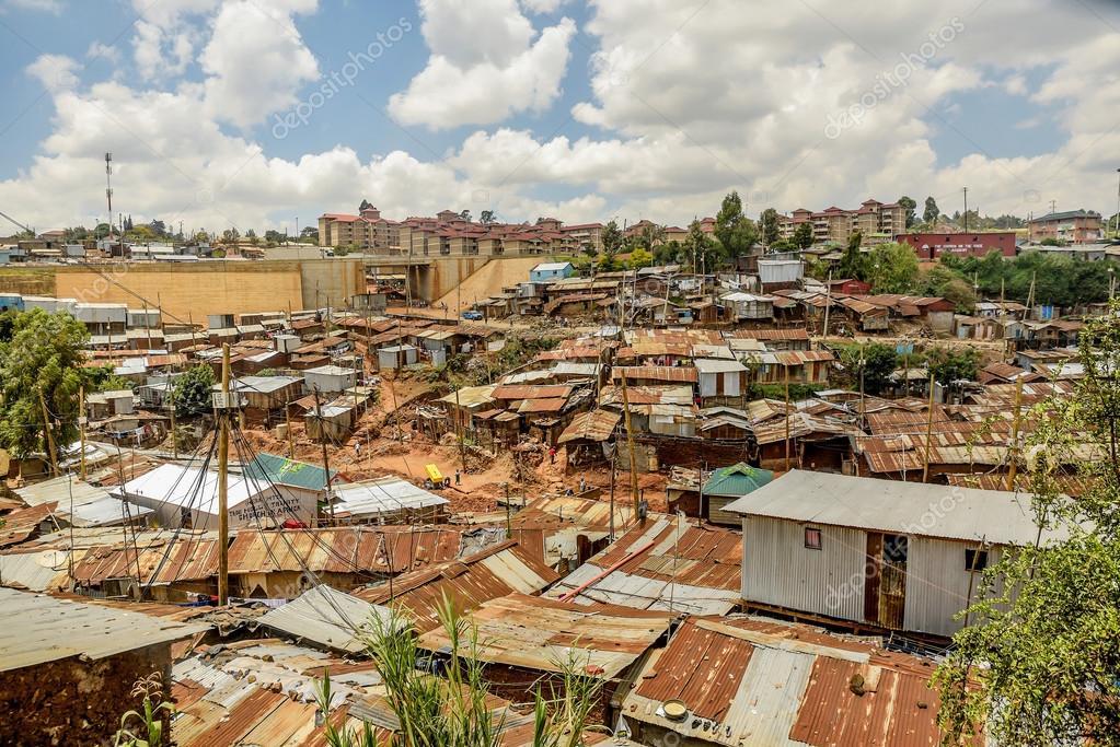 Kibera slum in Nairobi, Kenya. — Stock Photo