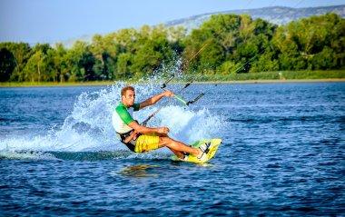 Water fun and kitesurf on Ada Bojana, Montenegro