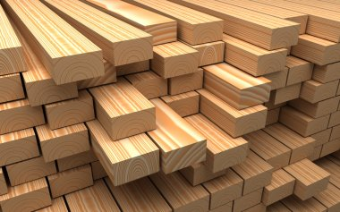 Closeup wooden boards. Illustration about construction materials