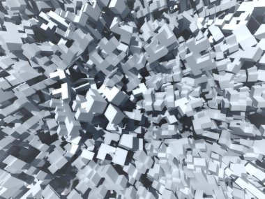 Abstract cubes background, 3d illustration