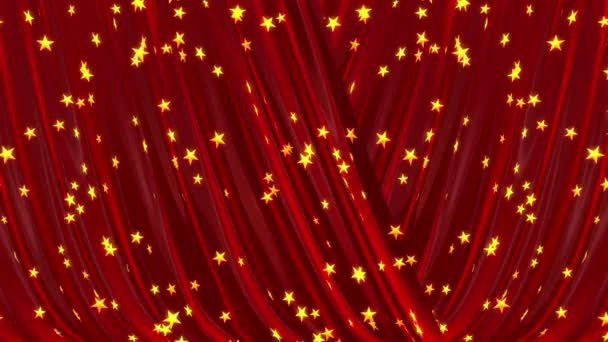 öffnende und schließende roten Vorhang, 3d animation