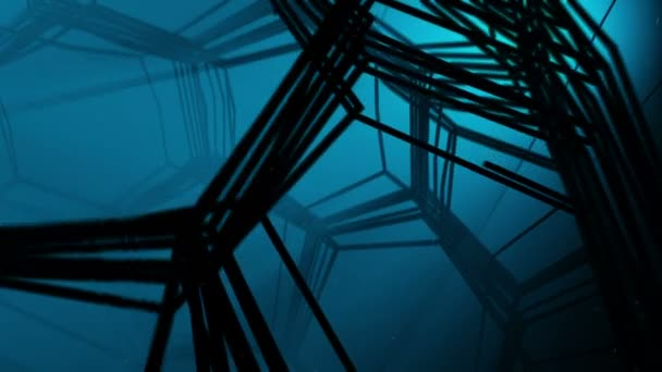 Underwater Fantasy web tunnel. Abstract 3d animation