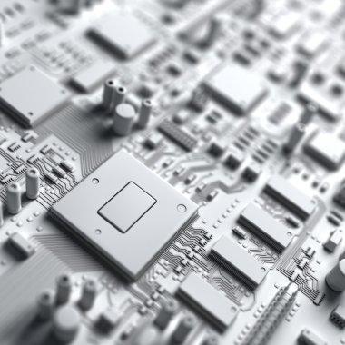 Fantasy circuit board. Art of electronics technology