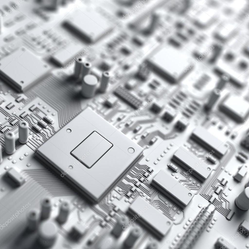 Fantasy Circuit Board Art Of Electronics Technology Stock Photo Repairing Computer Royalty Free Image