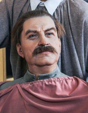 The figure of Joseph Stalin.