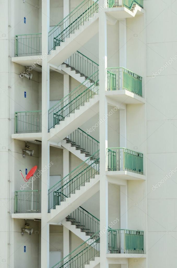 External Fire Escape Staircase U2014 Stock Photo #57606871
