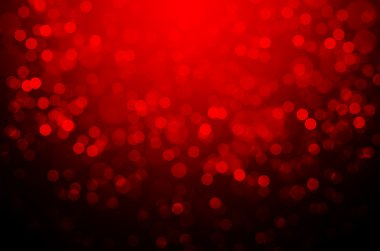Red Christmas bokeh background