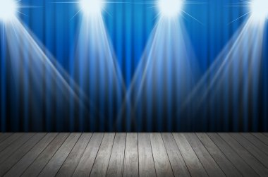 blue stage light as background