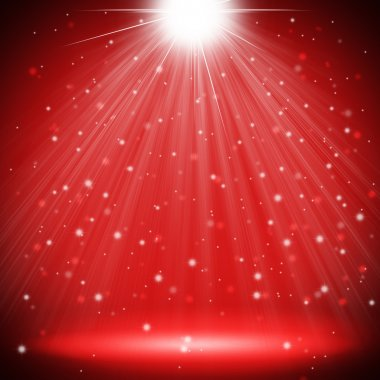 red stage light christmas background