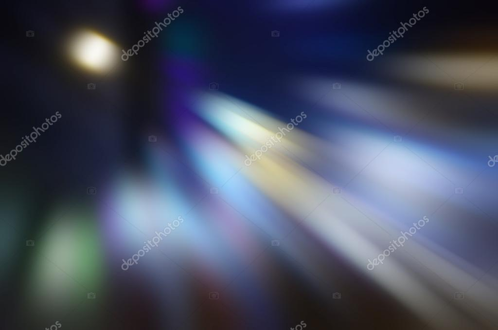 Abstract motion blur of night lights for background