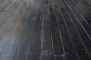 grunge black wood floor for back ground