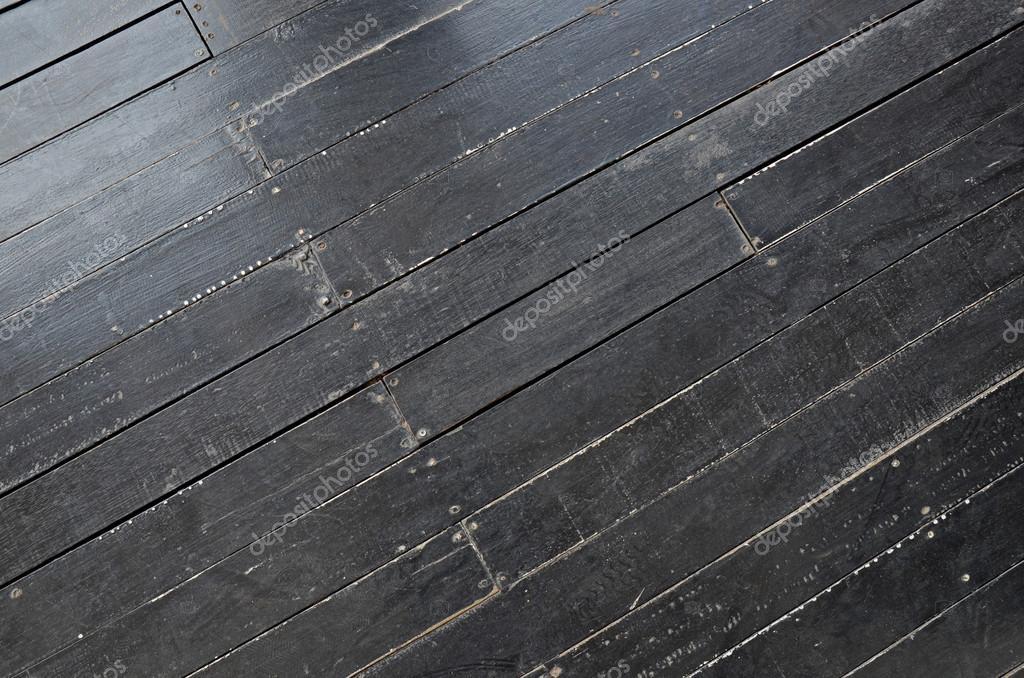 Vaak Grunge zwarte houten vloer voor achtergrond — Stockfoto #MF62