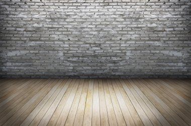 Texture of Old grunge wall and wooden floor