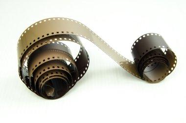photo film on white background