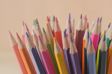 color pencils as background