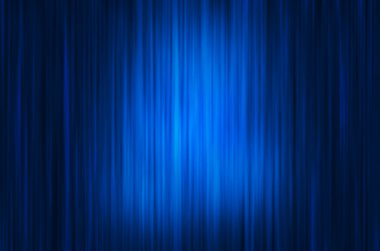 Blue Curtain Stage Background with light spots